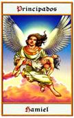 tarot angeles Principado Hamiel
