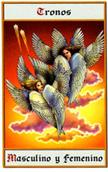 tarot angeles Trono masculino y femenino