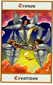 tarot angeles Tronos creativos