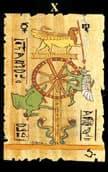 tarot egipcio La Rueda de la Fortuna